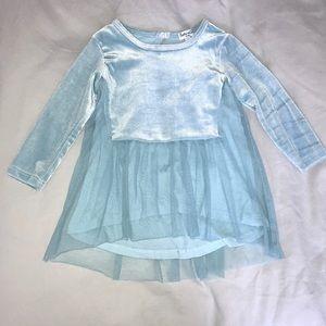 Splendid Light Blue Velvet tunic with mesh
